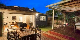 private landscaped garden, timber deck, alfresco dining, BBQ area, throw cushions, outdoor table and chair