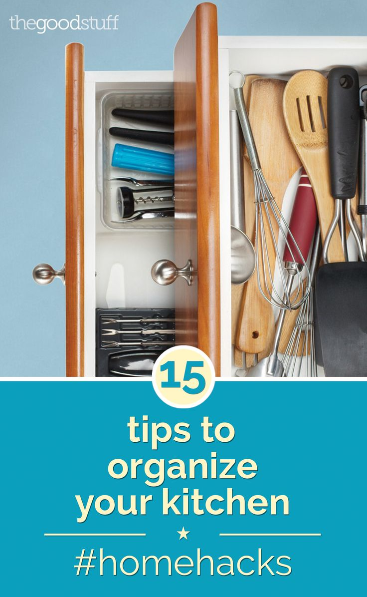 best way to organize kitchen drawers home hacks 15 tips to organize your kitchen home the o 9240