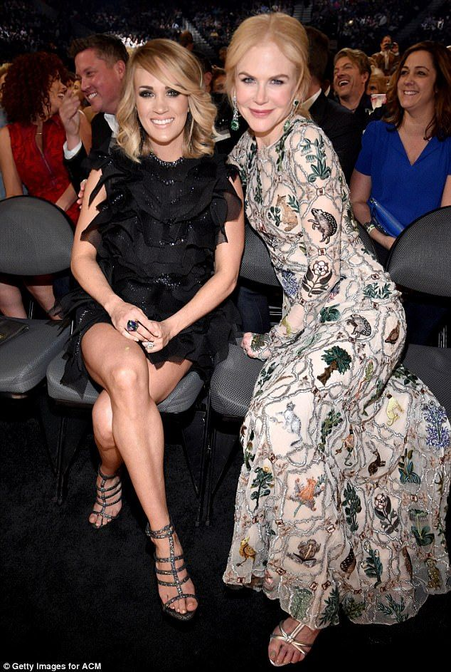 Showstoppers: Carrie Underwood and Nicole Kidman were also in attendance...