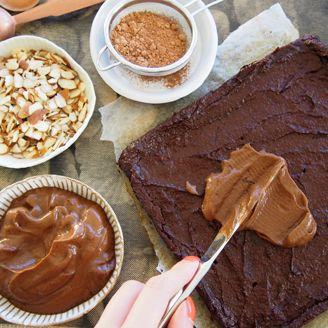 Sweet Potato Brownies w/ Sweet Potato + Avocado Chocolate Frosting.