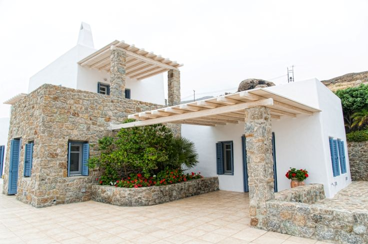 This is the unique architecture of Mykonos that comparing the stone and the white color.