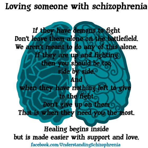 Loving someone with schizophrenia