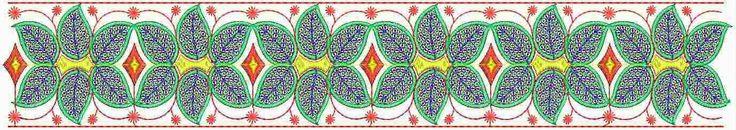 blomme borduurwerk ontwerp Kant grens