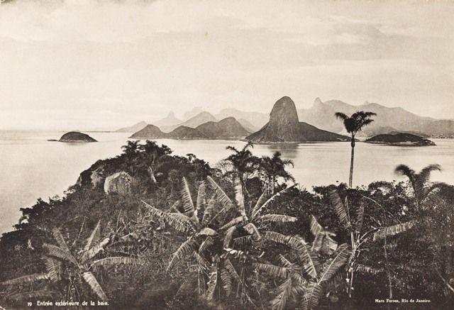 Entrada da Baía de Guanabara, no Rio de Janeiro, em 1880 (Foto: Marc Ferrez/ Coleção Gilberto Ferrez/ Acervo Instituto Moreira Salles)