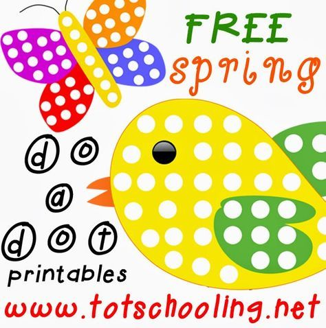 Free Spring Do a Dot Printables