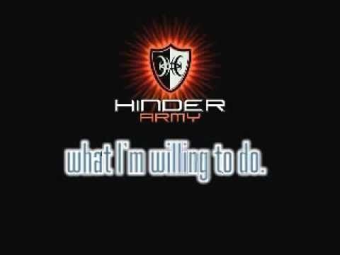Hinder without lyrics