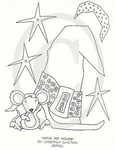 free primitive sampler patterns | Hat Mouse primitive stitchery pattern, epattern, e pattern, e-pattern ...