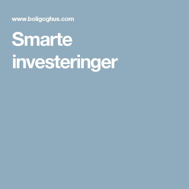 Smarte investeringer