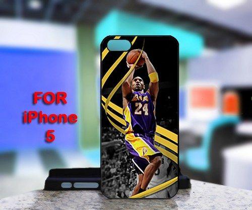 Kobe Bryant Lakers LA 24 For IPhone 5 Black Case Cover