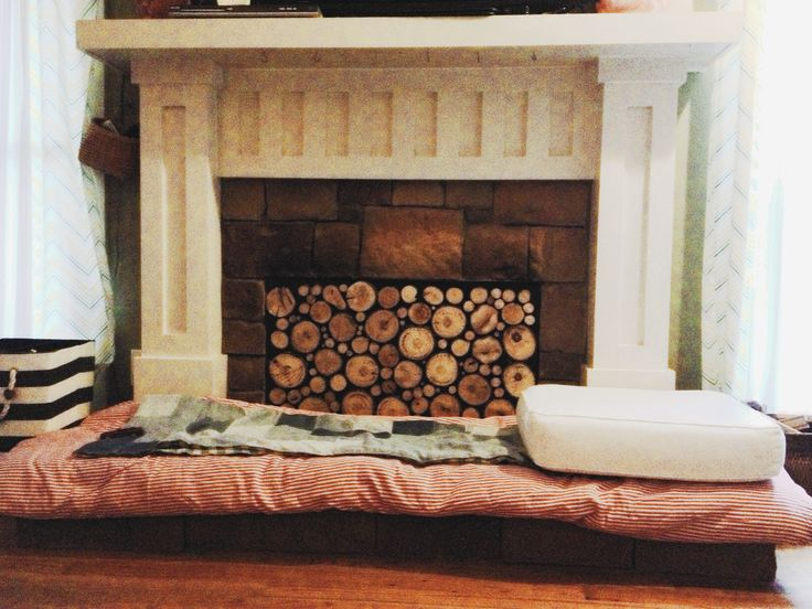 Pinterest Faux Fireplace Part - 50: Faux Stacked Log Fireplace Insert. Tutorial Found Here.  Http://www.pepperdesignblog.com/2013/02/27/pinterest-challenge-faux -log-stack-fireplace-facade/ ...