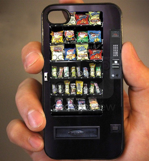 "This is a humorous iPhone case. The ""vending machine"" idea is fresh and original in a sea of girly cases. You can look at this one and remember it; originality to me is key.  The detail of the chip bags and candy bars is  top notch and the resolution of the picture is appropriate. Interesting case, to say the least."