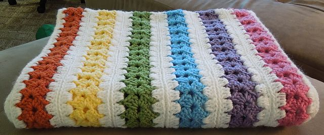 Ravelry: Project Gallery for Mile A Minute Baby Afghan (archived) pattern by Caron International Yarns