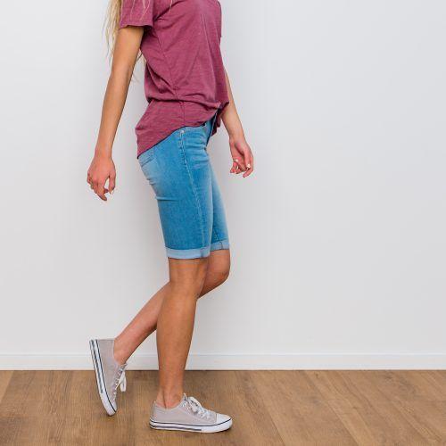 Hillcrest Cuffed Shorts – Light Denim