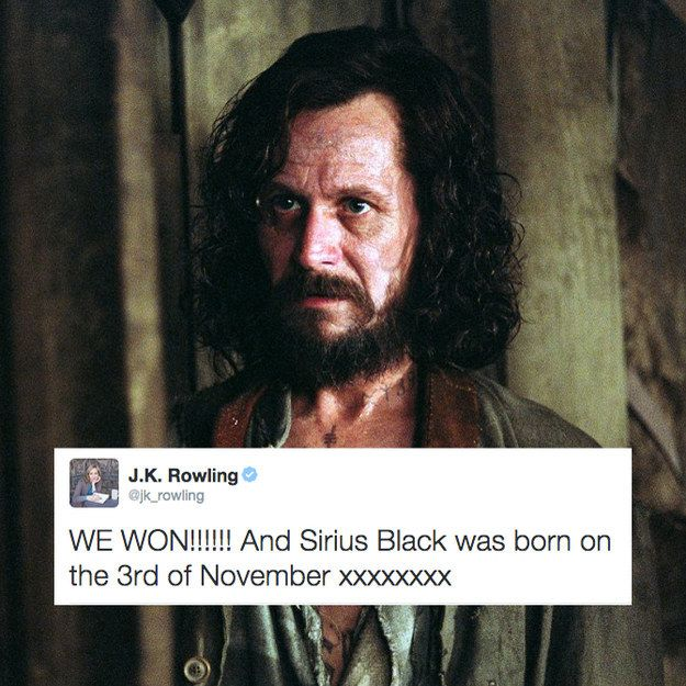 Sirius Black's birthday. Love Sirius black!