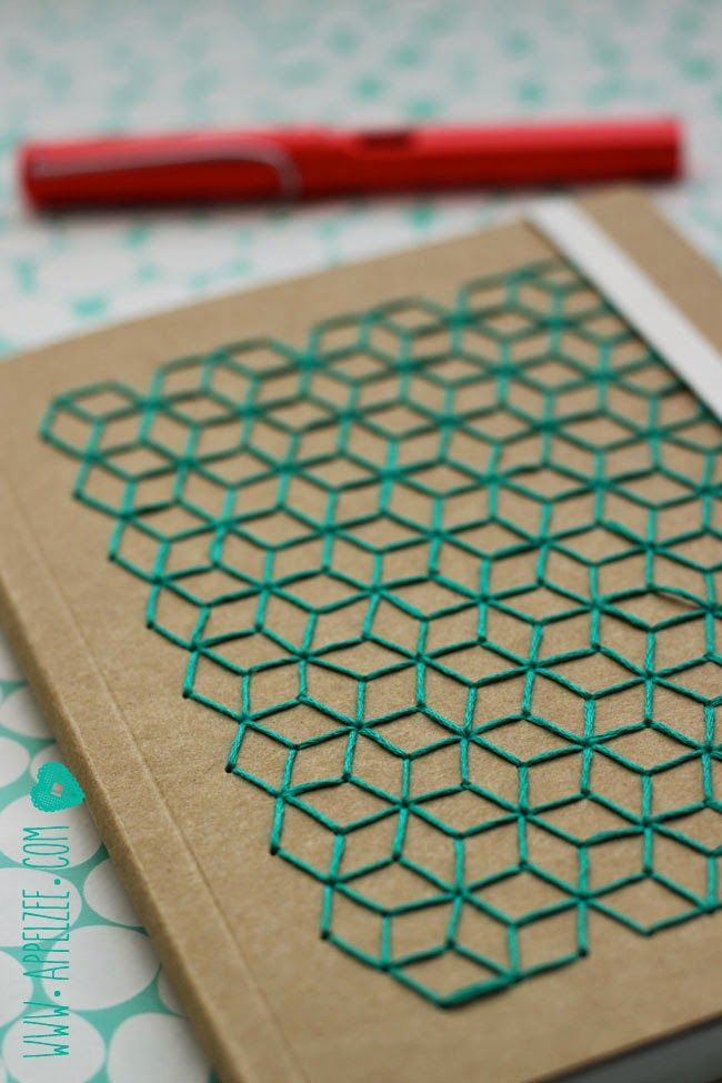 Stitch a notebook cover.