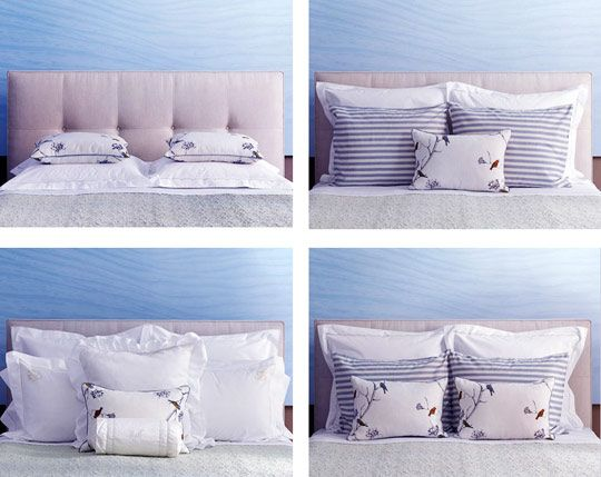 Pillow arrangement---Queen bed D & O: Bedrooms Pinterest Style, Bed pillows and Beds