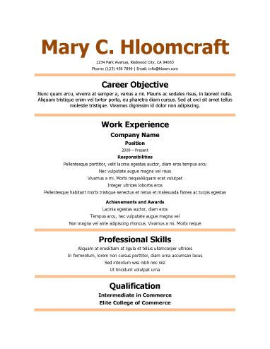 461 best Resume Templates and Samples images on Pinterest Free - beach attendant sample resume