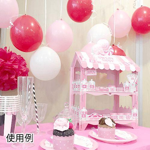 【TalkingTables】なりきりお菓子やさん 組立フードスタンド ピンク 40cm | バースデーバンク