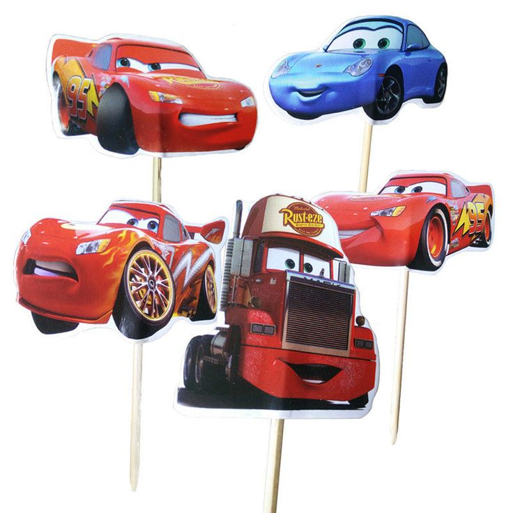 48pcs/lot New Cars Cartoon Cupcake Cake Toppers Party Birthday Children New 2018 #Unbranded #Party