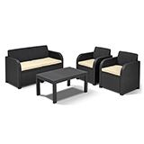 Carolina Lounge Set Graphite Outdoor Patio Furniture £199