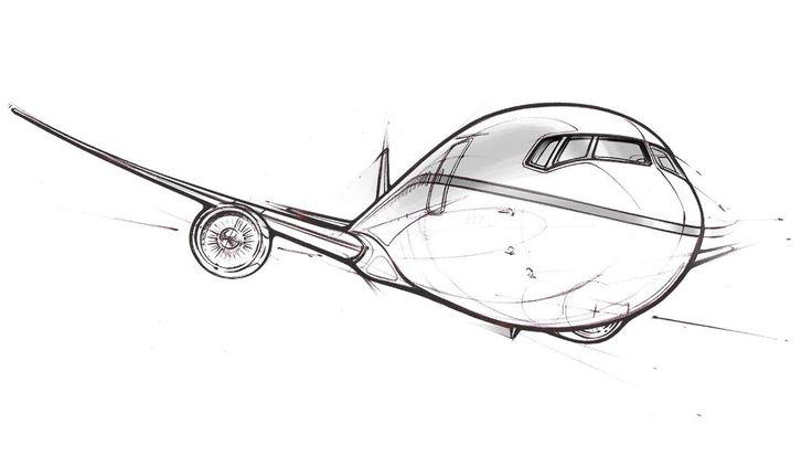 boeing 777x sketch
