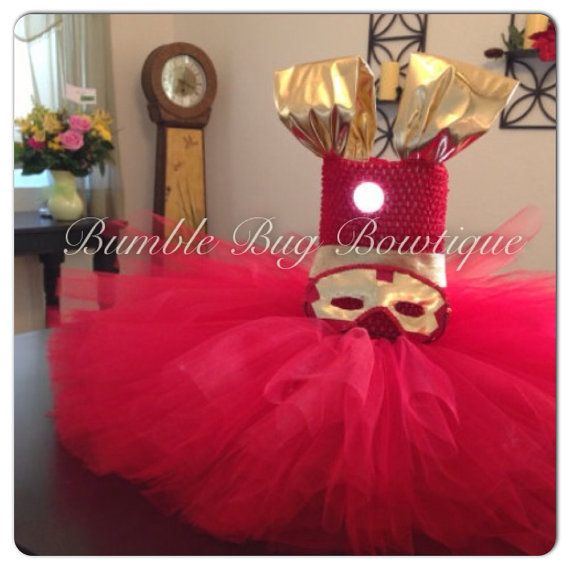 Iron cutie iron man inspired tutu dress on Etsy, $85.00 Because I know in the future if I ever have a little girl, Brian would be disappointed if she didn't wear this.