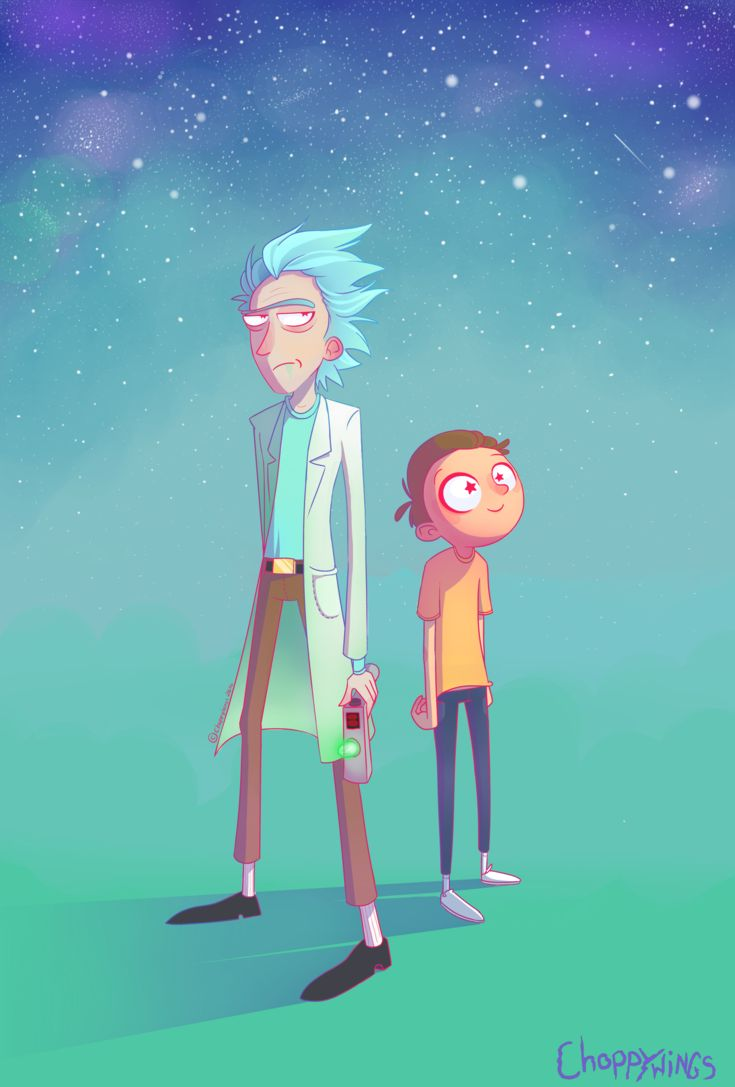 Rick and Morty Illustrated Fanart by Choppywings