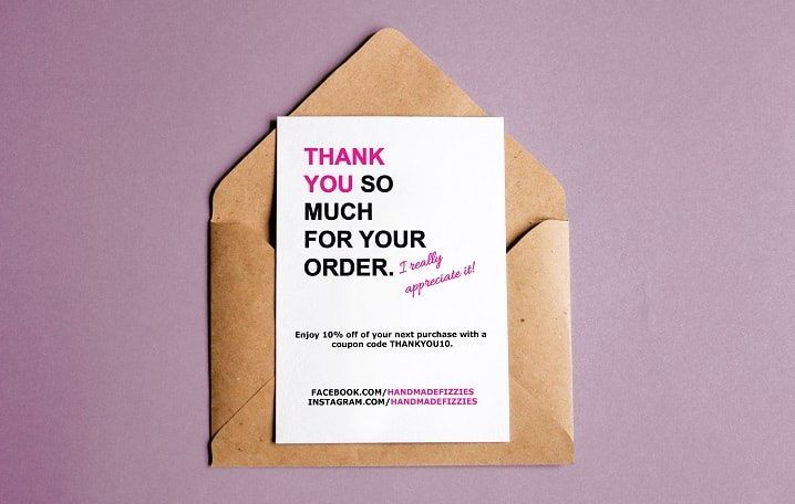 Thank You For Your Purchase Note Free Template Business Thank You Notes Business Thank You Cards Business Thank You