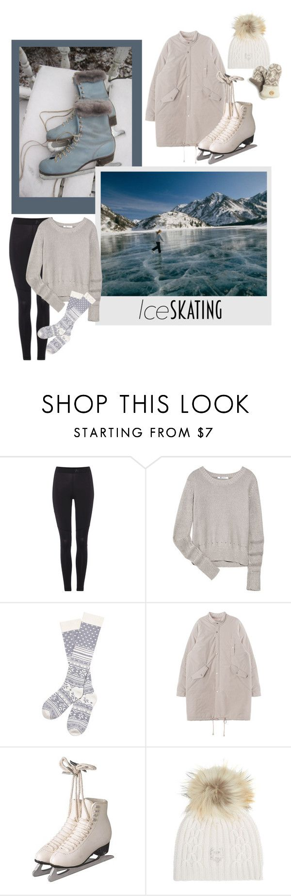 """""""Ice skating"""" by kehargett ❤ liked on Polyvore featuring Disney, NIKE, T By Alexander Wang, Victoria's Secret, M. Miller, Muk Luks, women's clothing, women's fashion, women and female"""