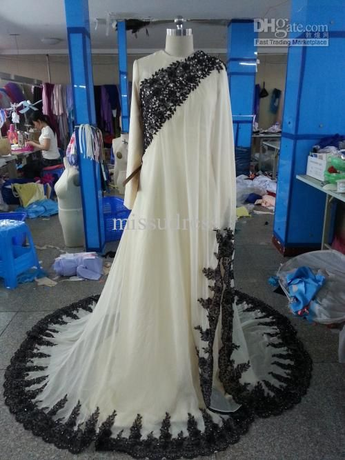 islamic formal gowns | Buy Real Sample Champagne Muslim Formal Evening Dress Wedding Dresses ...