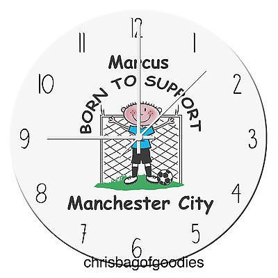 #Personalised football team glass #clock gifts for all #teams him her christmas,  View more on the LINK: 	http://www.zeppy.io/product/gb/2/172358193443/