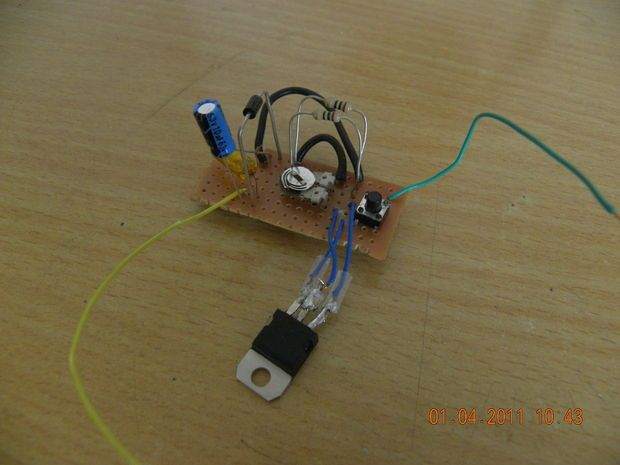 Picture of how to make a laser diode driver that enables you to burn paper