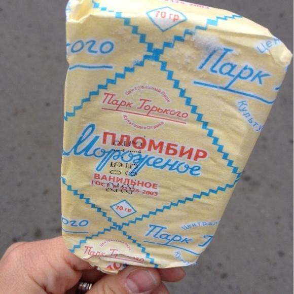Супер мороженое!!!!!!! - Мороженое парк горького@Палатка с мороженым via www.dish.fm