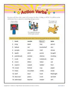 Action Verbs  Active Verbs List