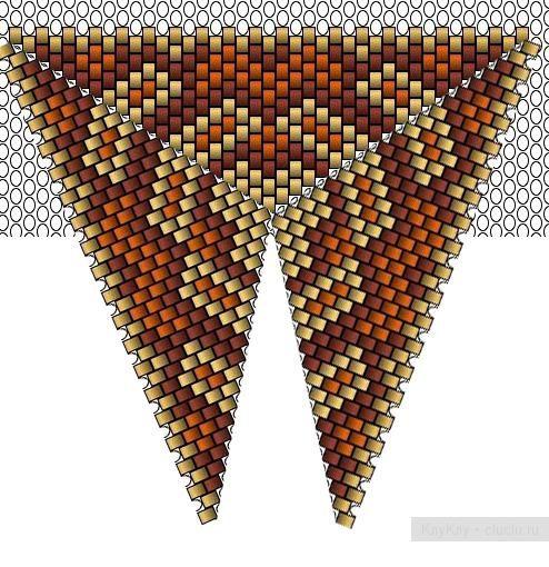 Треугольнички из бисера - схемы