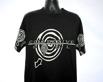 1996 Collective Soul RARE Vintage Blue Album Gel Era Tour Cult Classic 90s Alternative Rock Radio Grunge Band Concert Promo T-Shirt