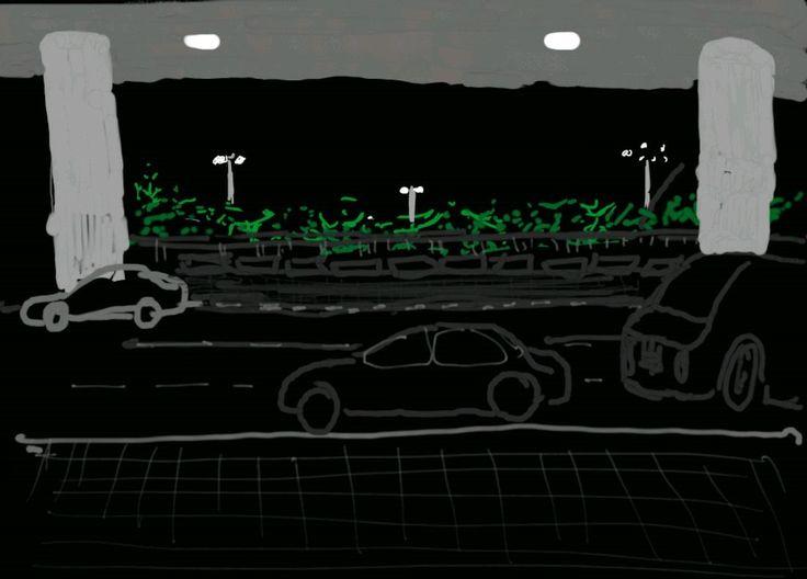 Using Samsung S3 digital Pen, spot sketch at the International Airport , Arrivals Deck