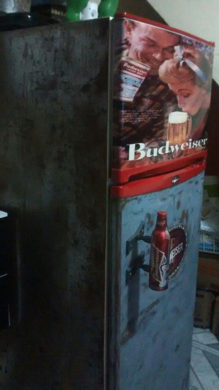 Geladeira Budweiser no Stilo antigo...