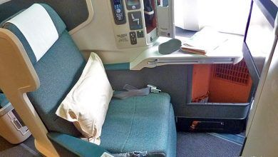 free airline upgrade to business class
