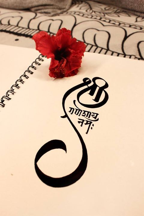 #lordganesha #ganeshmantra #omtattoo #tattoodesign #mantratattoo…