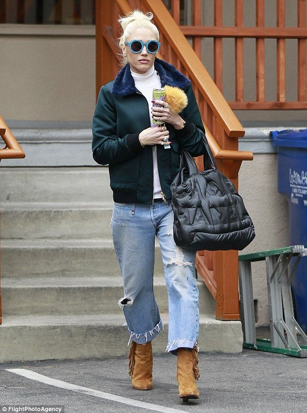 Stylish:Gwen Stefani stepped out in Los Angeles for a manicure and pedicure on Wednesday...