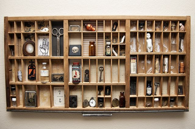 Diy Curiosities Drawer By Beans Ink Via Flickr Letterpress Drawer Diy