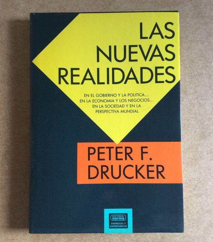 LAS NUEVAS REALIDADES Spanish Book Peter Drucker Libro Español Hardcover 1990 #EditorialNormaSA