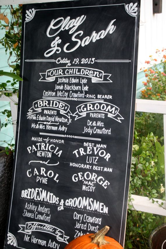 Wedding Chalkboard Signage by LBFStudio on Etsy, $100.00 ....wait.... $100?!  Watch me do it myself for $20.