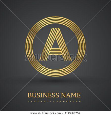 Elegant gold letter symbol. Letter A logo design. Vector logo design template elements  for company identity. - stock vector