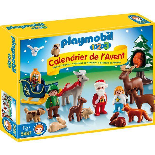Playmobil Christmas - Calendrier de l'Avent: 1.2.3 Père Noël et animaux - PLA5497 PLAYMOBIL