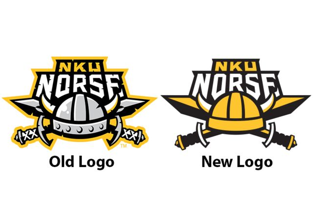 Northern Kentucky University. The new NKU logo, right, was implemented by  the University March 16, replacing the old logo, left.