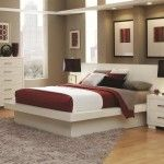 $774.00  Coaster Furniture - Jessica California King Platform Bed with Rail Seating and Lights - 202990KW