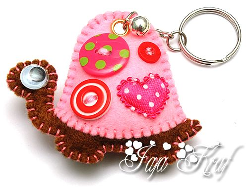 Cute ideas on this site, lots of felt crafts!