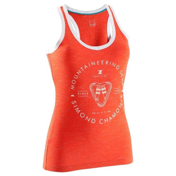 Sziklamászás, alpinizmus - SIMOND Ruházat - Női ujjatlan felső, piros SIMOND - Női